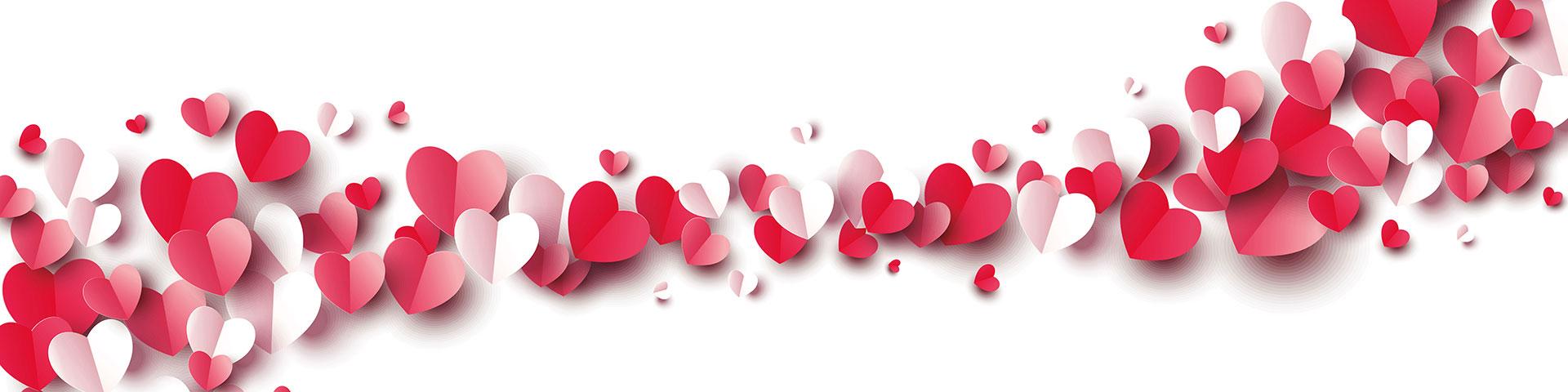 Wir lieben unsere KundInnen mit roten u weißen Herzen bringen wir das zum Ausdruck